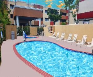 Comfort Inn Huntington Beach - Lounge by our Pool