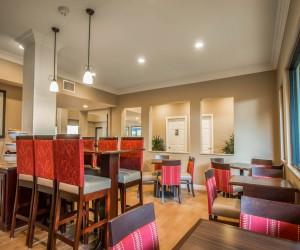 Comfort Inn Huntington Beach - Breakfast Sitting Area in our Huntington Beach Hotel